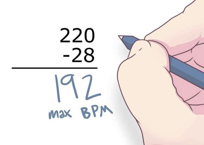 Calcul et mesure de la fréquence cardiaque de repos et maximale