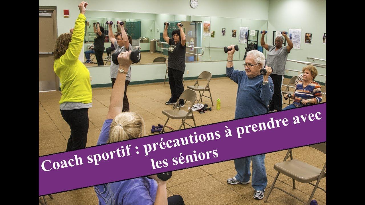 Seniors et coachs sportifs : les précautions à prendre