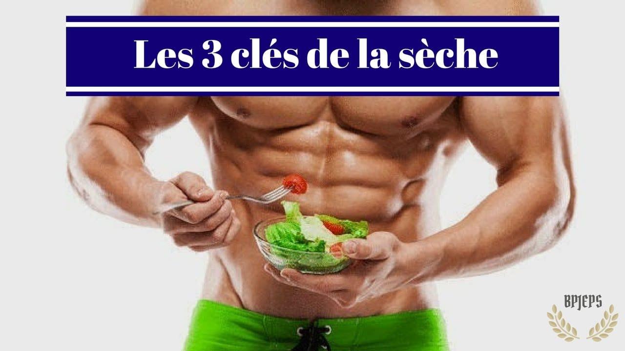 Les 3 clés de la sèche en nutrition