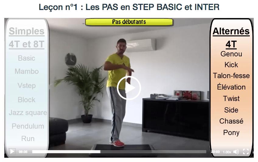 Apprendre STEP en ligne online BPJEPS pas base intermediaire simple alterne