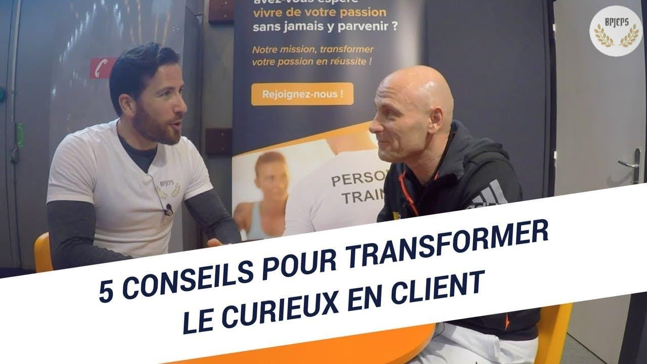 Coach sportif : 5 conseils pour transformer le curieux en client