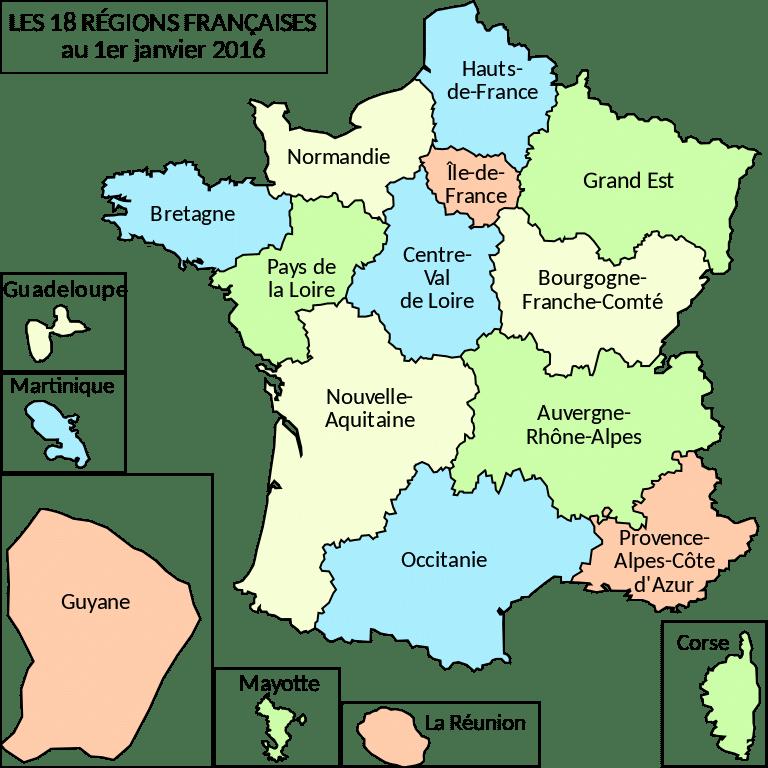 Regions_France_2016 VAE BPJEPS AF coach sportif