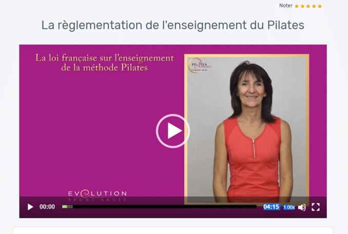 Magali Théry explique que l'enseignement du Pilates en France est réservé aux éducateurs sportifs diplômés d'un BPJEPS AF, ou CQP ALS, ou diplôme universitaire de la filière STAPS, ou encore aux kinésithérapeutes.