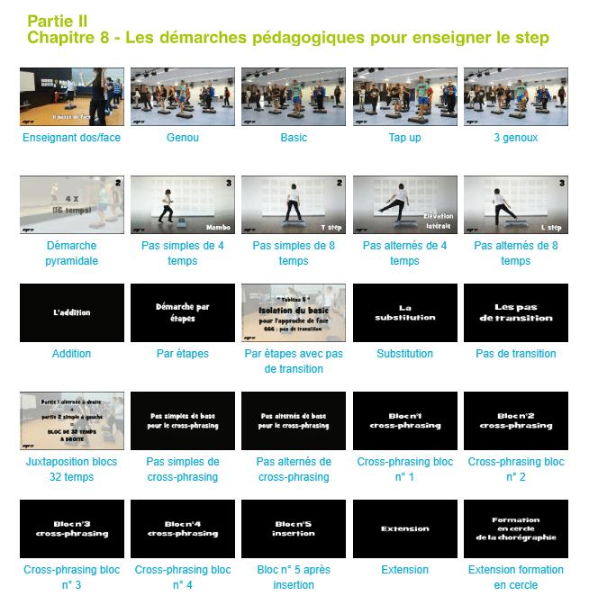 Le livre STEP de Nolwenn Le Bourgeois donne accès à des vidéos très pédagogiques.