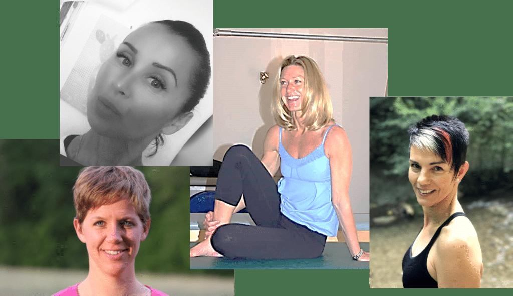 Julie Midgley, Nicole Pfister, Regula Calloni et Grazia Dell'Oglio, sont des formatrices Pilates inspirées et inspirantes.