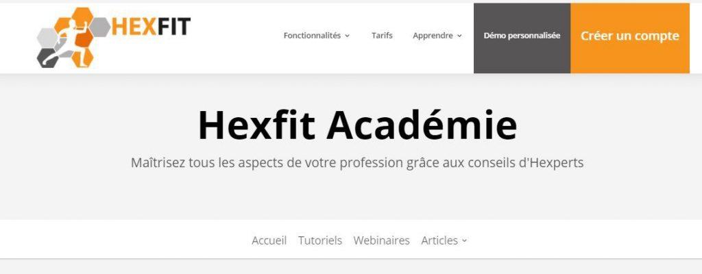 Hexfit Académie regroupe les tutoriels d'apprentissage et répond aux FAQ
